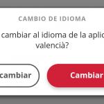 App GVA idioma
