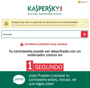 contraseña kaspersky