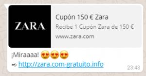 Supuesto cupon Zara