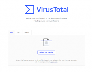 Virustotal web